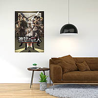 """Плакат-постер с принтом """"Attack on Titan - Вторжение титанов (японская постапокалиптическая манга) 3"""""""