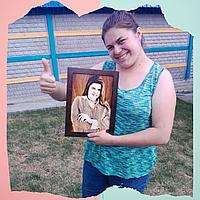 Картина фотография (выжженная картина по фото под заказ)