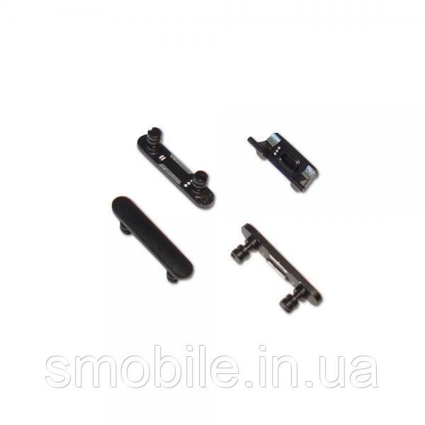Набор внешних кнопок iPhone 7 Plus (4 шт.) черный оникс (оригинал)