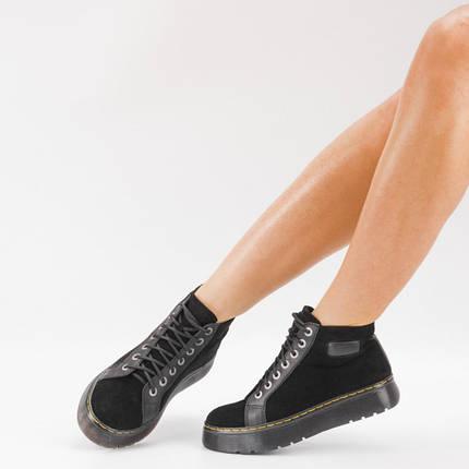 Замшеві черевики на платформі 104-03, фото 2