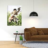 """Плакат-постер с принтом """"Attack on Titan - Вторжение титанов (японская постапокалиптическая манга) 5"""""""