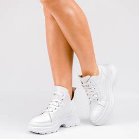 Кроссовки высокие белые 024-40