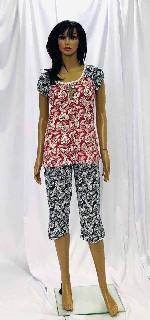 Трикотажна піжама жіноча з бриджами