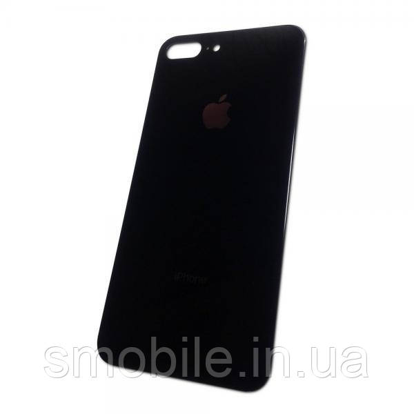 Стекло задней крышки iPhone 8 Plus черное (хорошая копия)