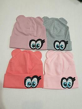 Дитяча шапочка для дівчаток Р.р 1-5 роки