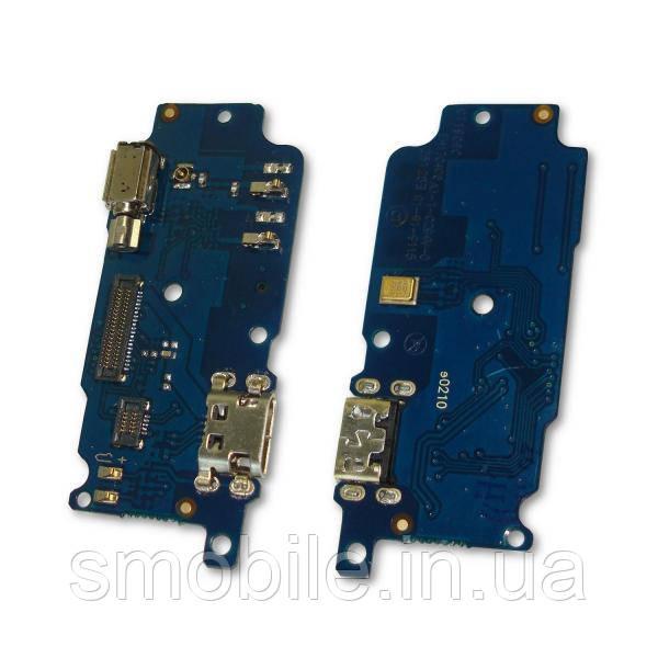 Разъем зарядки Meizu M5S на плате с микрофоном и вибромеханизмом