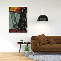 """Плакат-постер с принтом """"Attack on Titan - Вторжение титанов (японская постапокалиптическая манга) 7"""""""