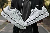 Мужские Nike Air Force 1 Ribbon White найк аир форс 1