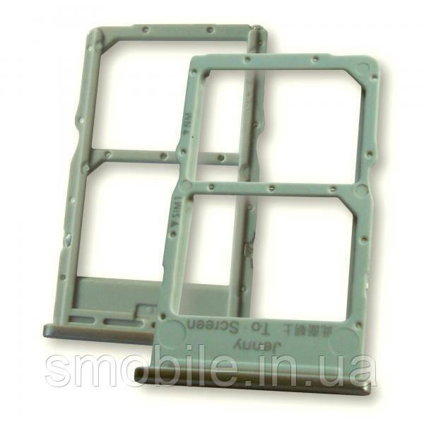 Лоток под две Nano SIM карты Huawei P40 Llite серебристого цвета (оригинал Китай)