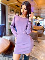 Круте міні сукня з трикотажу люрексом, фото 3