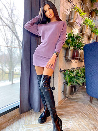 Круте міні сукня з трикотажу люрексом, фото 2