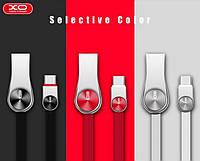 Lightning кабель зарядки и синхронизации XO NB45 CD Grain Zinc Alloy для iPhone iPad iPod черный (1000 мм), фото 1