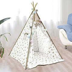 Детская игровая палатка Littledove RT-14 Milk Stars вигвам домик для детей