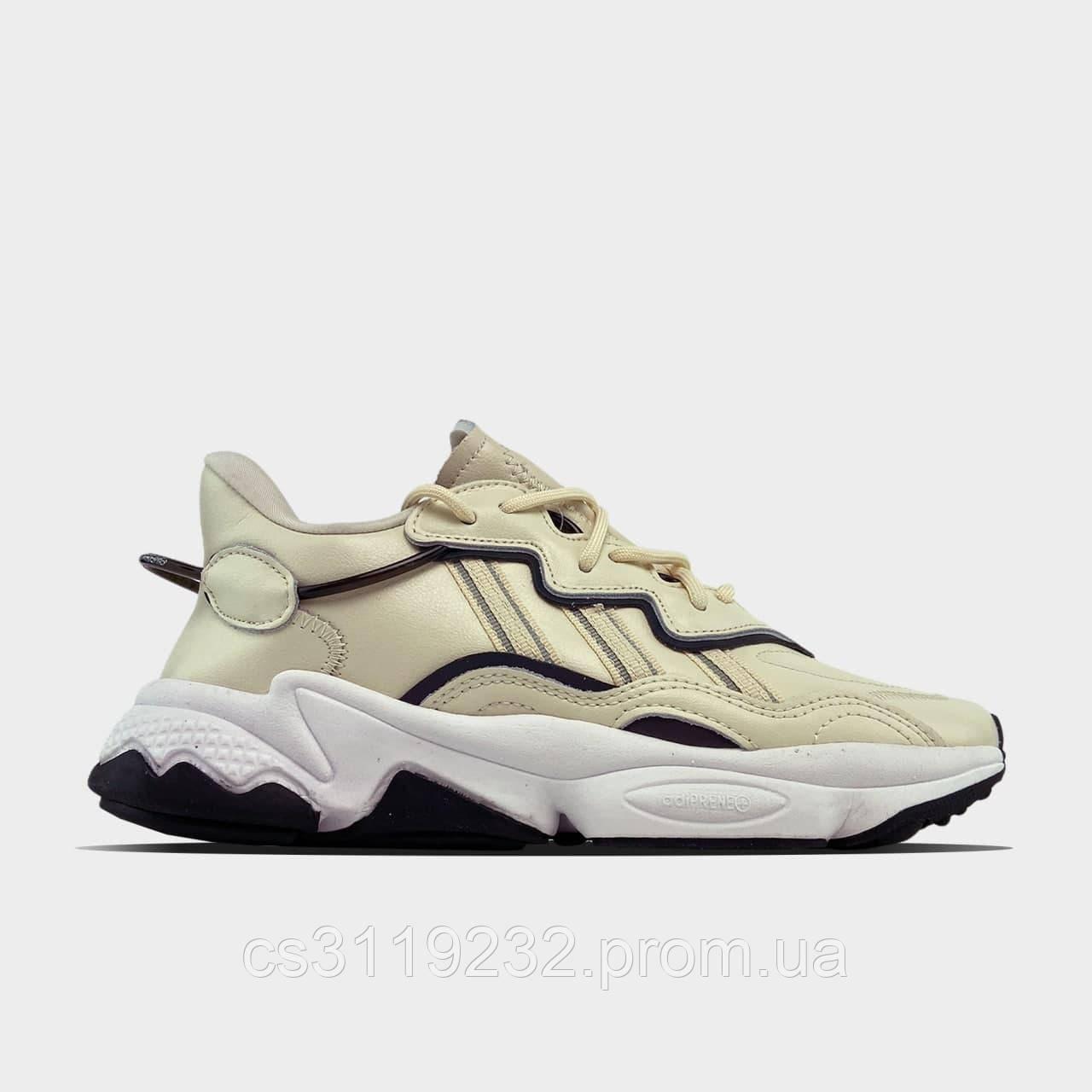 Женские кроссовки Adidas Ozweego Beige White (бежевые)