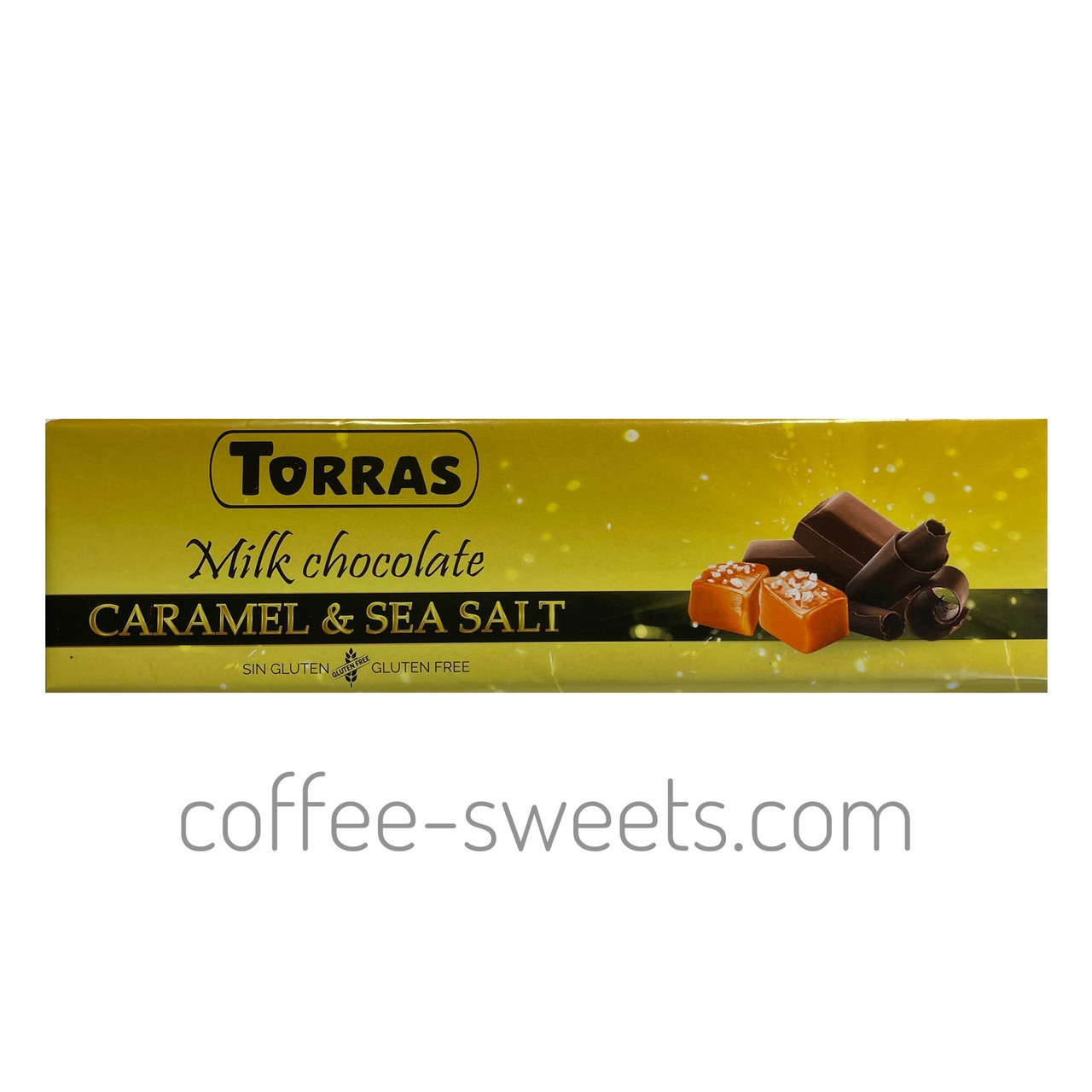 Шоколад Torras Молочний Карамель & Сіль 33% cacao 300 г