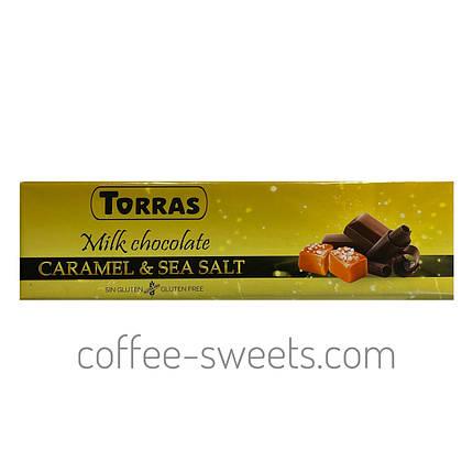 Шоколад Torras Молочний Карамель & Сіль 33% cacao 300 г, фото 2