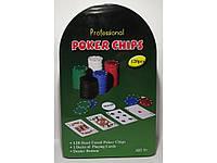 Набір для гри в покер 120 фішок 2 колоди карт ігрове сукно