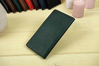 """Шкіряний гаманець """"Лонг Тревел"""", Шкіра Італійський краст, колір Зелений, фото 2"""