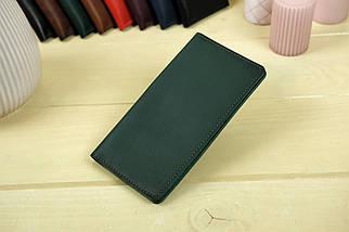 """Шкіряний гаманець """"Лонг Тревел"""", Шкіра Італійський краст, колір Зелений, фото 3"""