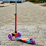 Самокат двухколёсный детский SPORT KIDS 2583 с фарой со светящимся эффектом Фиолетовый, фото 2