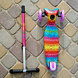 Самокат двухколёсный детский SPORT KIDS 2583 с фарой со светящимся эффектом Фиолетовый, фото 3