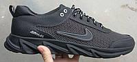 Nike Big! Мужские кроссовки большого размера серые летние сетка в стиле Найк очень удобные .