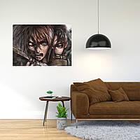 """Плакат-постер с принтом """"Attack on Titan/Вторжение титанов (японская постапокалиптическая манга) 12"""""""