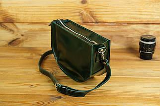 Сумка женская. Кожаная сумочка Фуксия Кожа Пуллап цвет Зеленый, фото 3