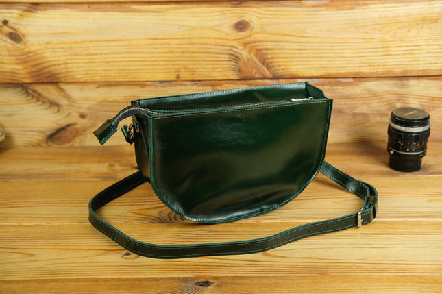 Сумка женская. Кожаная сумочка Фуксия Кожа Пуллап цвет Зеленый, фото 2