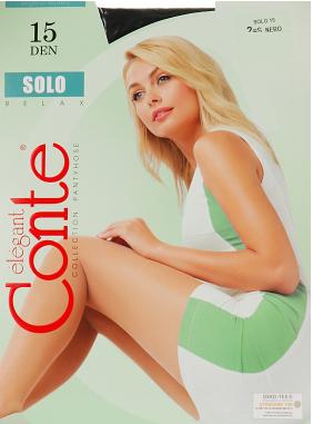 """Колготи жіночі """"Solo"""" 15 р.4 nero"""