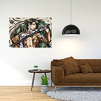 """Плакат-постер с принтом """"Attack on Titan/Вторжение титанов (японская постапокалиптическая манга) 13"""""""