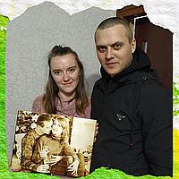 Оригинальный подарок на 14 февраля девушке парню (Портрет на заказ по фото, выжженный портрет)
