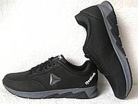 Баталы Рибок Новинка ! Reebok летние мужские кроссовки большого размера черные с серым.