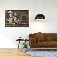 """Плакат-постер с принтом """"Attack on Titan/Вторжение титанов (японская постапокалиптическая манга) 14"""""""