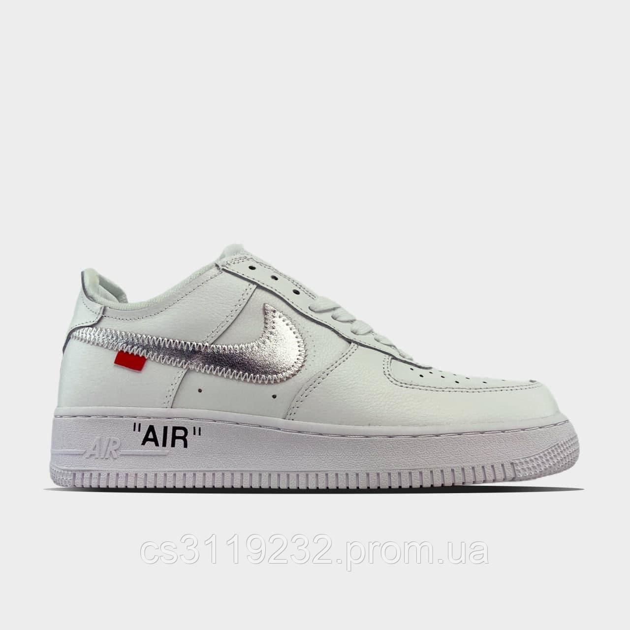 Чоловічі кросівки Nike Air Force 1 '07 Low SE Premium White Black (білі) 36-45р.