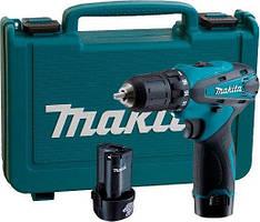 Шуруповерт аккумуляторный MAKITA DF330DWE (12V/1,3 А/час) С набором инструментов