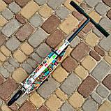 Двухколесный городской спортивный самокат с подножкой  SPORT KIDS 2602 с рисунком Белый с Видео-обзором!, фото 2