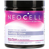 Коллаген 1 и 3 Типов + Биотин, Neocell, Collagen + Biotin, Вкус Ягод, 120 жевательных конфет