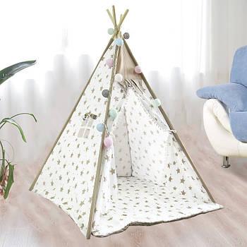 Вигвам Littledove RT-14 Milk Stars детская игровая палатка