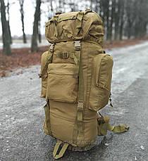 Тактичний (туристичний) рюкзак на 65 літрів Coyote (ta65-new-coyote), фото 2