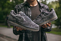Мужские Nike Air Force x Reigning Champ Dark Grey найк аир форс