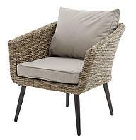 Плетеное кресло садовое натура (петан), фото 1
