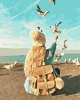 BRM38338 Рисование по номерам Голодные чайки , 40*50 см , Никитошка