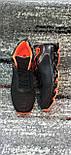 Стильні чоловічі кросівки сітка чорно-помаранчеві. Розміри 41-45, фото 2