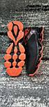 Стильні чоловічі кросівки сітка чорно-помаранчеві. Розміри 41-45, фото 3