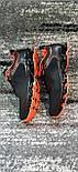 Стильні чоловічі кросівки сітка чорно-помаранчеві. Розміри 41-45, фото 5