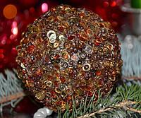 Елочная игрушка шар Пайетки 3D SKL11-209599
