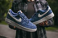 Мужские Nike Air Force Lou Luxury Suede Blue\White найк аир форс
