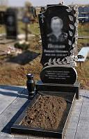 Одинарный памятник с цветником 1