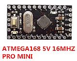 Плата Arduino Pro Mini ATmega168 5V 16Mhz, фото 2